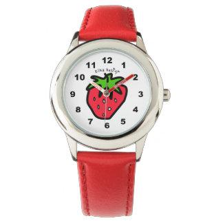 いちごの赤 腕時計