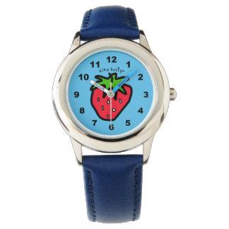 いちごの青 腕時計