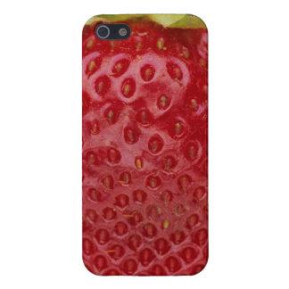 いちごのiPhone 5/5Sの光沢のある終わりの場合 iPhone 5 Cover