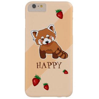 いちごを持つかわいく幸せなレッサーパンダ BARELY THERE iPhone 6 PLUS ケース
