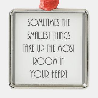 いつか最も小さい事ほとんどの部屋あなたのハートの灰色 メタルオーナメント