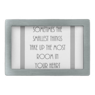 いつか最も小さい事ほとんどの部屋あなたのハートの灰色 長方形ベルトバックル