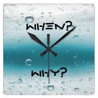 いつか。 なぜか。 -最も最高のでシックな柱時計! スクエア壁時計
