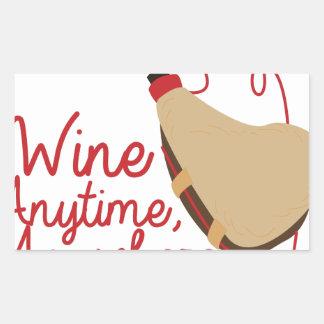 いつでもワイン 長方形シール