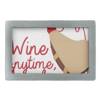いつでもワイン 長方形ベルトバックル