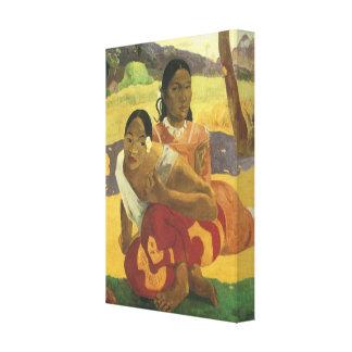 いつ結婚しますか。 ポール・ゴーギャン著、ヴィンテージの芸術 キャンバスプリント
