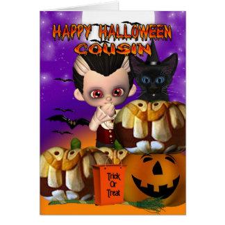いとこのハロウィンの吸血鬼猫のカボチャジャッキoのlanter カード