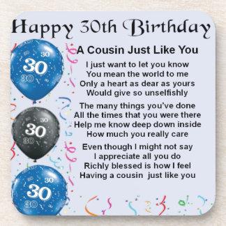 いとこの詩の第30誕生日 コースター