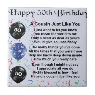 いとこの詩の第50誕生日 タイル