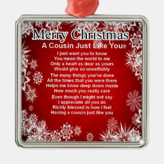 いとこの詩-クリスマスのデザイン メタルオーナメント