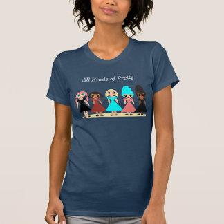 いろいろな種類のかわいらしい Tシャツ