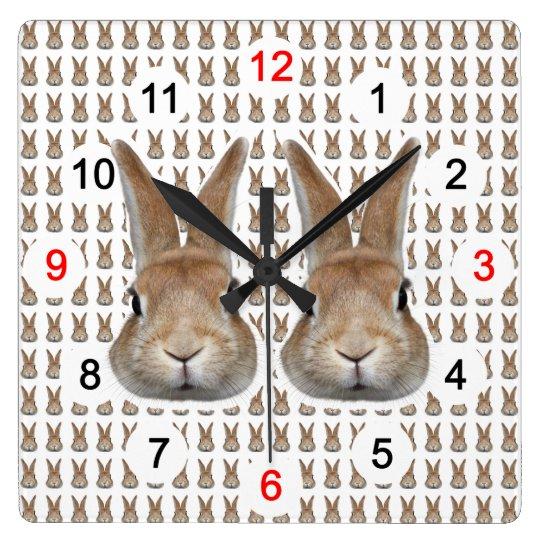 うさぎの壁掛け時計,No.02 スクエア壁時計