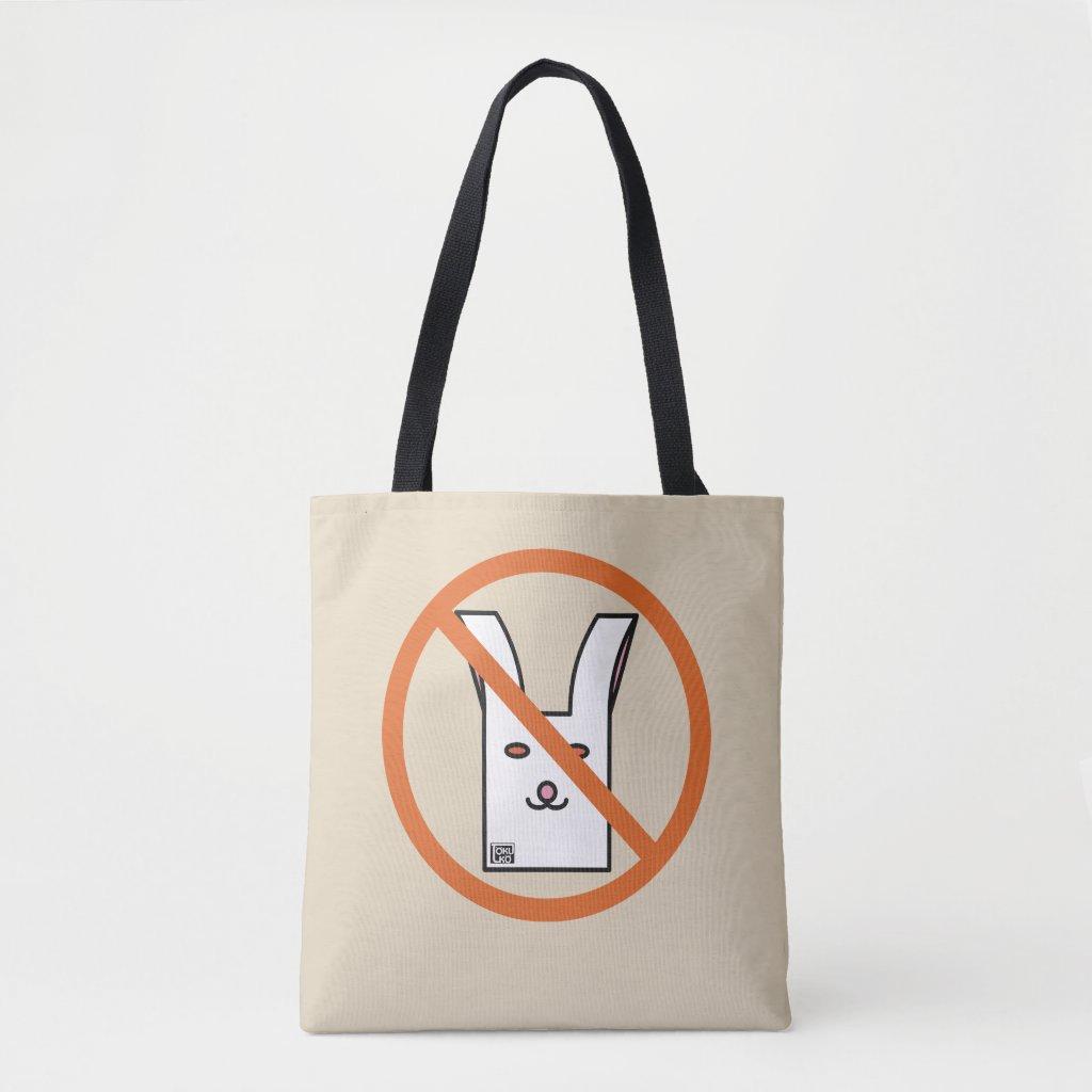 うさバッグ禁止 トートバッグ