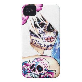 うそは死んだ女の子のポートレートの日を入れ墨しました Case-Mate iPhone 4 ケース