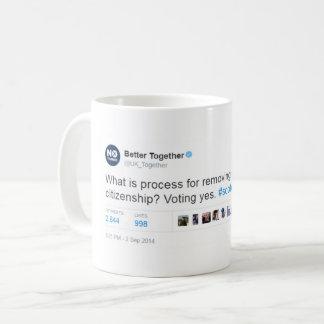 うそを一緒によくして下さい コーヒーマグカップ