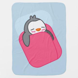 うたた寝のペンギンは毛布をからかいます ベビー ブランケット