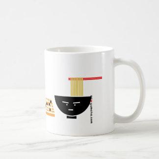 うどん及び緑茶のバッグの遊ぶことはマグ行きます コーヒーマグカップ