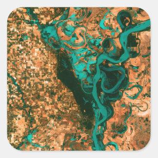 うねるミシシッピー衛星イメージ スクエアシール