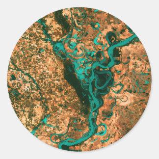 うねるミシシッピー衛星イメージ ラウンドシール