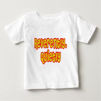 うやうやしく、静かに ベビーTシャツ