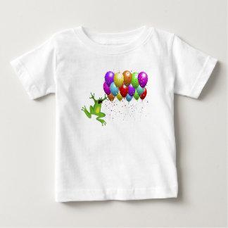うるう年のカエルのベビーのワイシャツ ベビーTシャツ