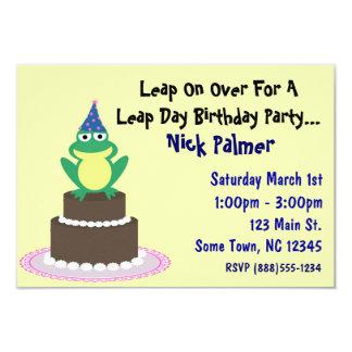 うるう日の誕生日のパーティの招待状 カード
