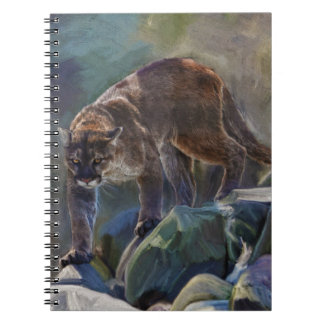うろつくクーガーのオオヤマネコの芸術のデザイン ノートブック