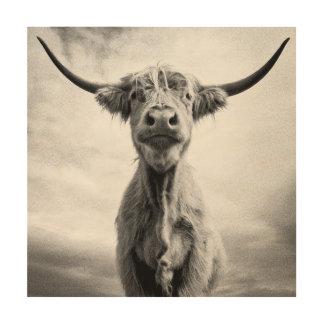 うわーMesotintのスタイルの芸術の写真撮影 ウッドウォールアート