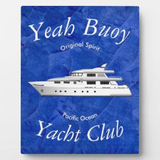 ええヨットクラブのブイ フォトプラーク
