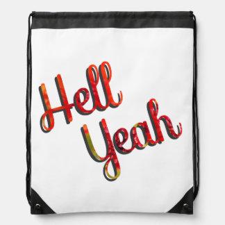 ええ地獄-赤および緑の引用文 ナップサック