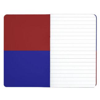 えんじ色および青い長方形 ポケットジャーナル