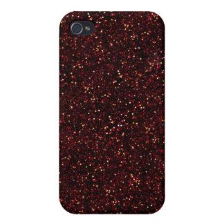えんじ色のルビー色のグリッター iPhone 4/4S COVER