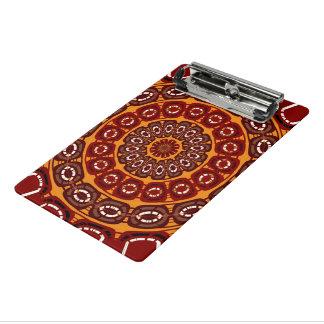えんじ色の曼荼羅 ミニクリップボード