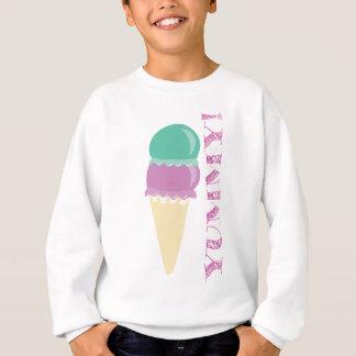 おいしいアイスクリームの食糧! おいしい スウェットシャツ