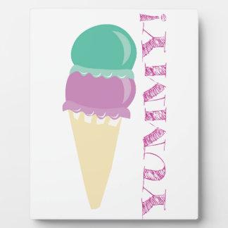 おいしいアイスクリームの食糧! おいしい フォトプラーク