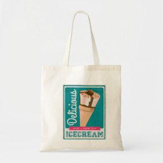 おいしいアイスクリーム円錐形 トートバッグ