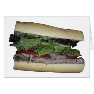 おいしいサンドイッチ! 私をかんで下さい! カード