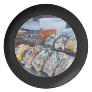 おいしいペルーのCausaのポテトの皿 プレート