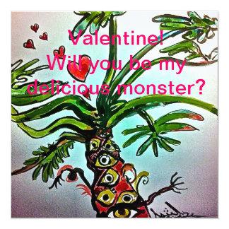 おいしいモンスターのバレンタイン カード