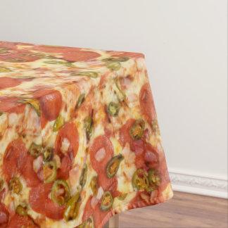おいしい全ピザpepperoniのハラペーニョの写真 テーブルクロス