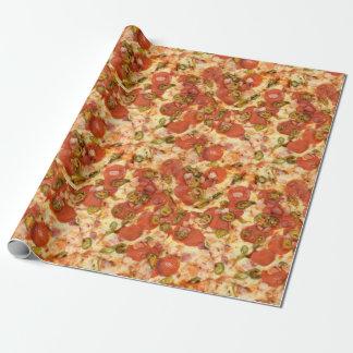 おいしい全ピザpepperoniのハラペーニョの写真 ラッピングペーパー