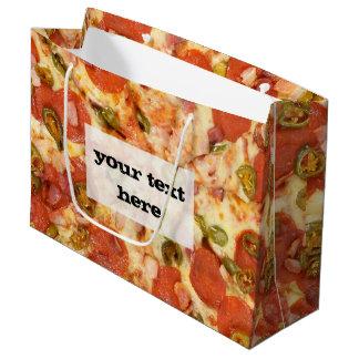 おいしい全ピザpepperoniのハラペーニョの写真 ラージペーパーバッグ