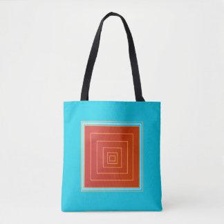 おいしい水およびオレンジか赤い中心の>Trendyトートバック トートバッグ
