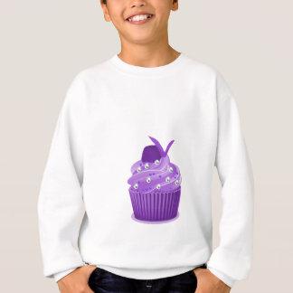 おいしい紫色のカップケーキ スウェットシャツ