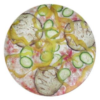 おいしい菜食主義ピザ お皿