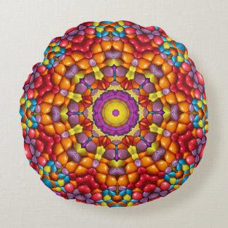 おいしいYum Yum万華鏡のように千変万化するパターンパターン円形の枕 ラウンドクッション