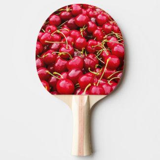 おいしくかわいく赤いさくらんぼは写真実を結びます 卓球ラケット