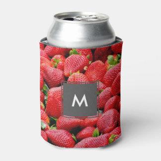 おいしく暗いピンクのいちごの写真 缶クーラー