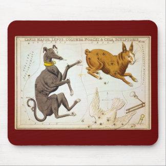 おおいぬ座、Lepus、コルンバNoachi及びCelaの彫刻家 マウスパッド