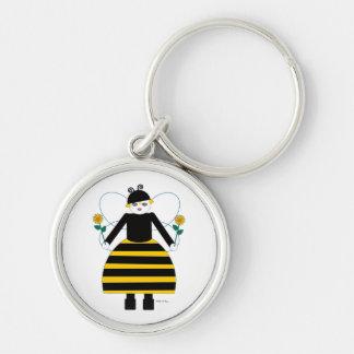おかしなMartzkinsの蜂蜜の蜂Keychain キーホルダー